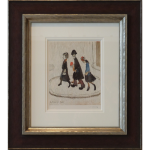 Family LS Lowry Signed Limited Edition Print