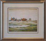 Landscape Farm Buildings LS Lowry Signed Print