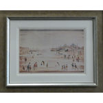 On Sands LS Lowry Signed Print