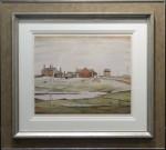 L s Lowry landscape with farm buildings