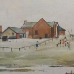 l s lowry landscape farm buildings