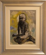 James Lawrence Isherwood Original Painting Portrait Ghandi