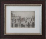 l s lowry the football match signed print