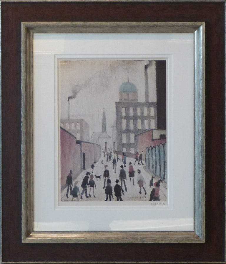 l s lowry mrs swindells limited edition print