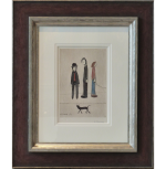 Three Men Cat LS Lowry Signed Limited Edition Print sq