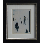 LS Lowry Signed Limited Edition Print Figures Park northern art