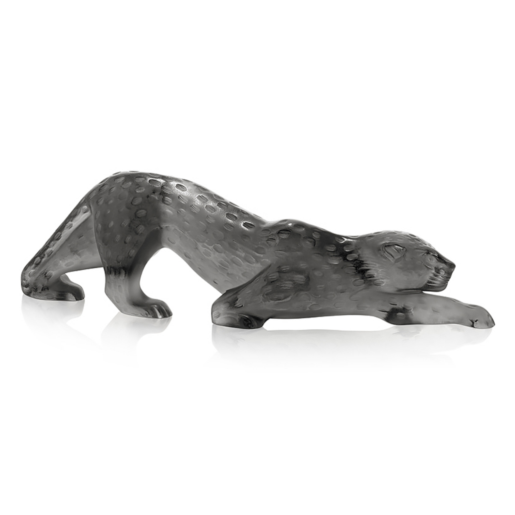 Zeila Panther Small Grey Figure Lalique Glass