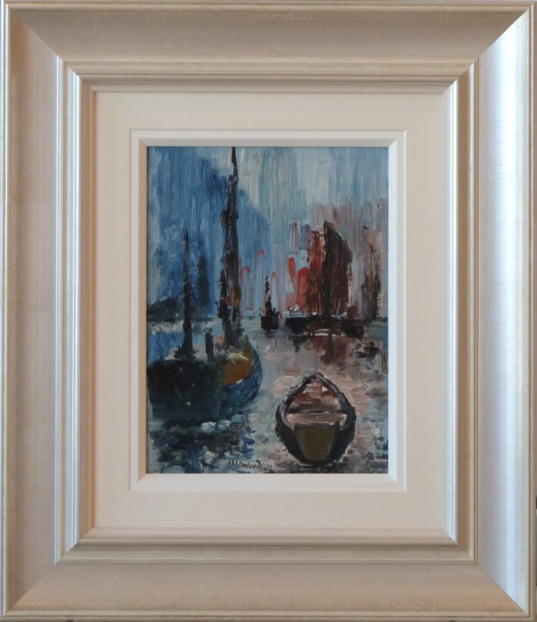 Mevagissey Boats James Lawrence Isherwood Original Painting