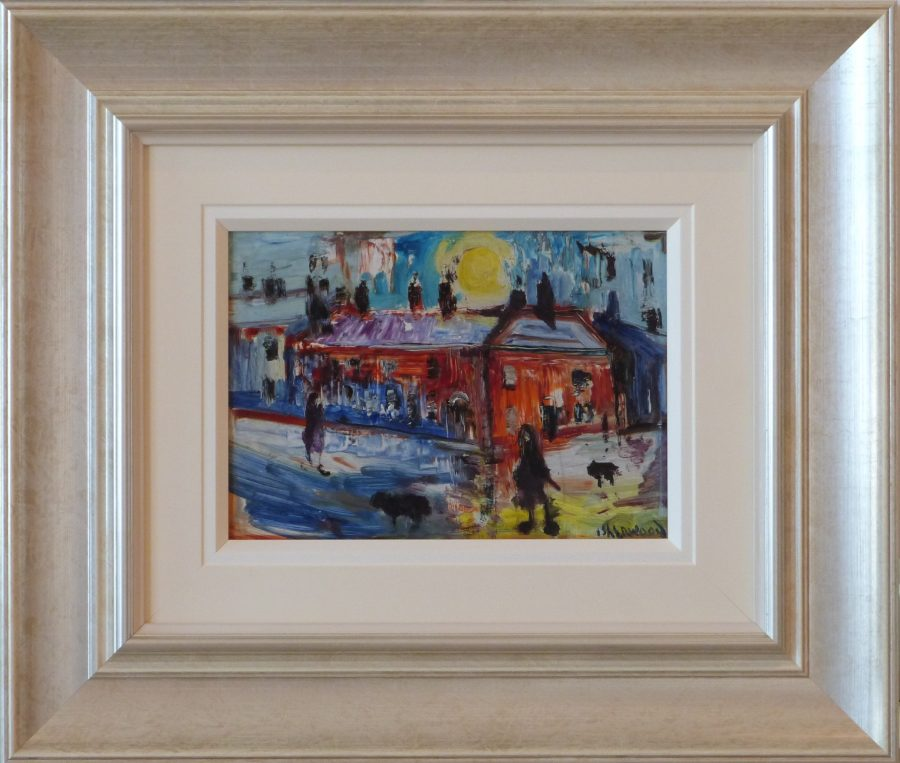 Sun Scholes Street James Lawrence Isherwood Original Painting