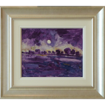 Buck Moon Over James Lawrence Isherwood Original Painting landscape