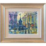 Rain Piccadilly London James Lawrence Isherwood Original Painting cityscape