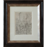 Milltown Scene L S Lowry Limited Edition Print industrial figurative