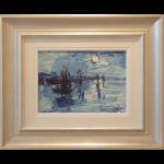 Nocturne Boats James Lawrence Isherwood Original Painting art