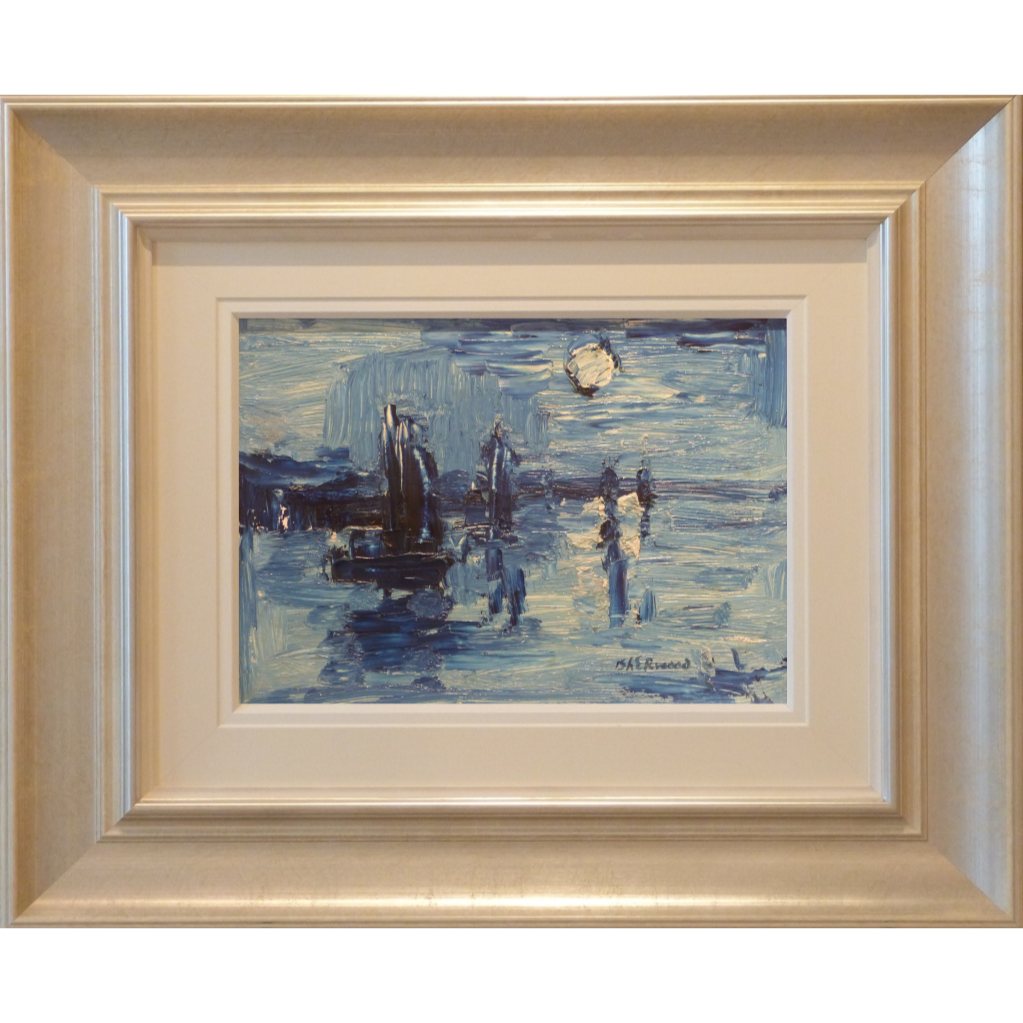 Nocturne Boats James Lawrence Isherwood Original Painting art