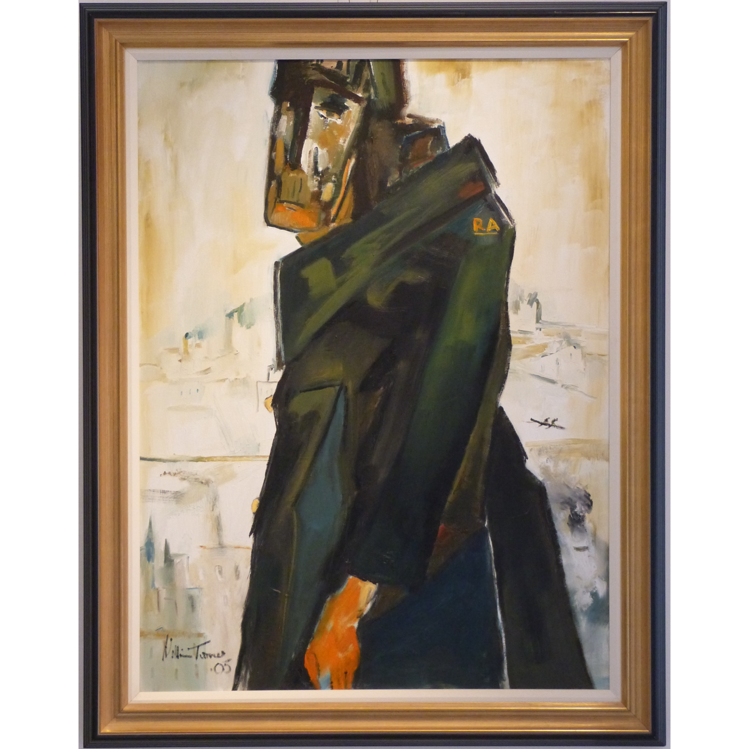 Prisoner in Greatcoat William Ralph Turner Original Painting artist