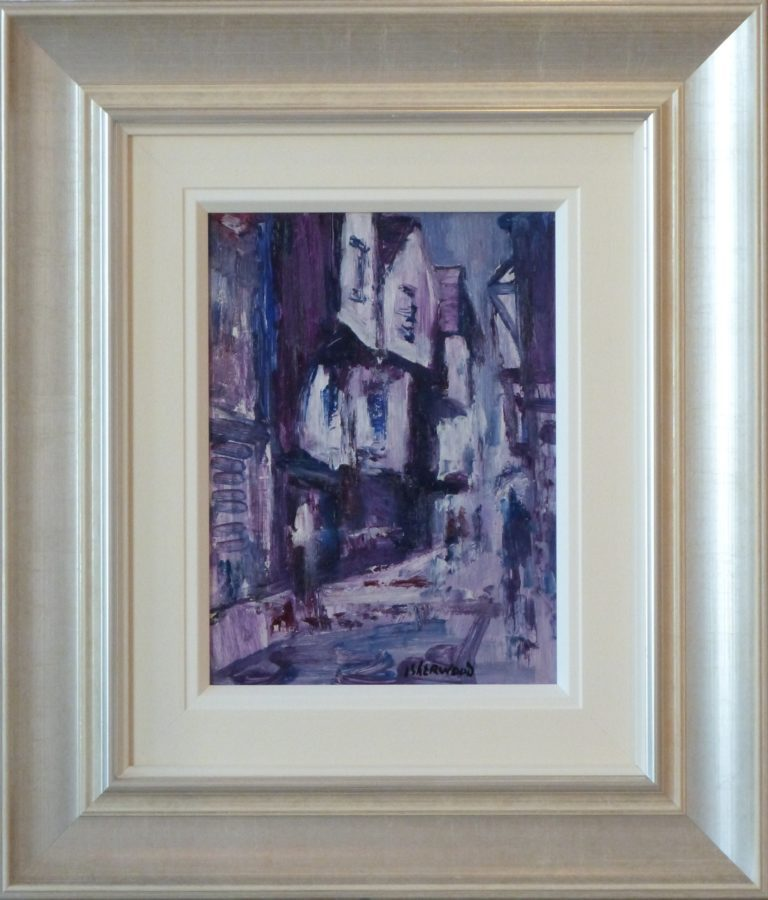 Rain Shambles York James Lawrence Isherwood Original Painting