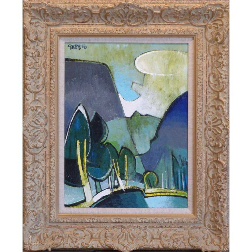 Pass Geoffrey Key Original Painting Northern art