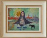 Wigan Shawl Dog James Lawrence Isherwood Original Painting