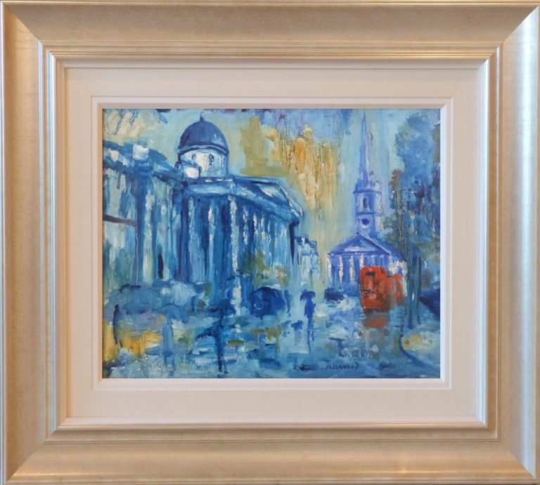 Rain National Gallery St Martins London James Lawrence Isherwood Original Painting